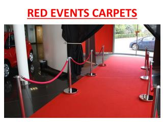 Red Event carpets in Abu Dhabi