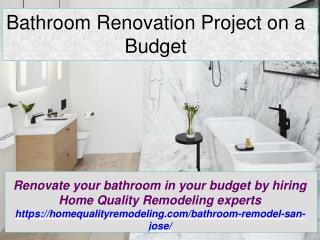 Bathroom Renovation Project on a Budget