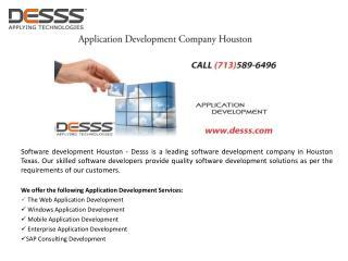 Application Development Houston