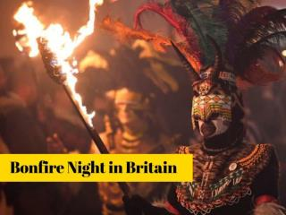 Bonfire night in Britain