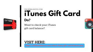 Check Your iTunes Gift Card Balance - Updated   You Must See!!!