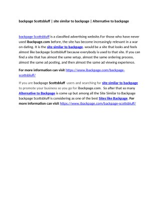 backpage Scottsbluff   site similar to backpage   Alternative to backpage
