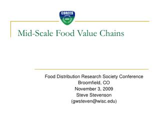 Mid-Scale Food Value Chains