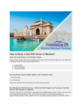 Car on Rent in Mumbai with Driver