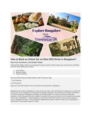 Car Rental Bangalore with Driver