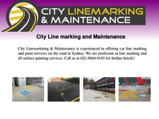 Car park line marking sydney