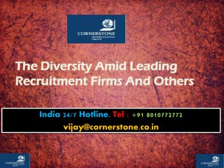 The Diversity Amid Leading Recruitment Firms And Others