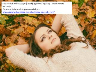 site similar to backpage | backpage centraljersey | Alternative to backpage