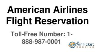 American Airlines Flights Reservations