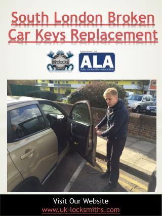 South London broken car keys replacement