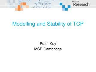 Modelling and Stability of  TCP