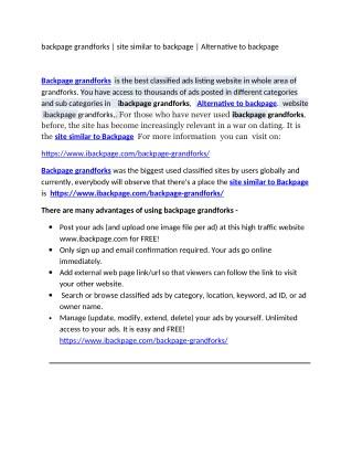 backpage grandforks   site similar to backpage