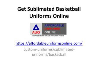 Get Sublimated Basketball Unforms