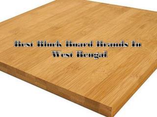 Best Block Board Brands In West Bengal