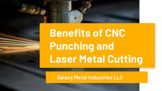 CNC Punching and Laser Metal Cutting services