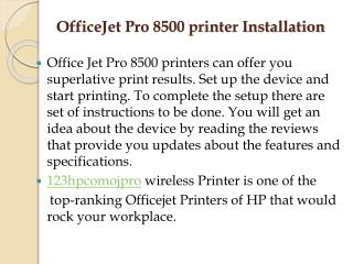 How To Get HP OfficeJet Pro 8500 Printer Driver Installation