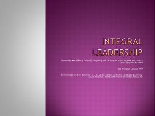 Integral Leadership