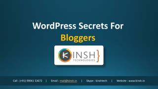WordPress Secrets For Bloggers
