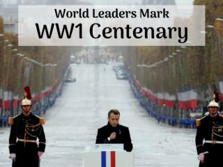 World leaders mark WW1 centenary