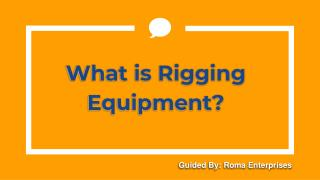 Rigging Equipment Suppliers