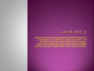 Mica Powder Suppliers & Mica Insulating Materials | Axim Mica