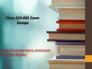 Latest Cisco 210-065 exam dumps