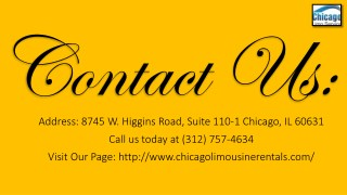 Chicago Limo Rentals