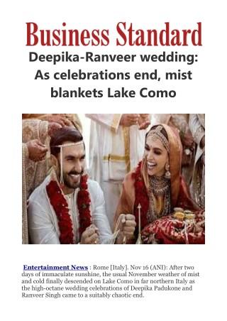 Deepika-Ranveer wedding: As celebrations end, mist blankets Lake Como