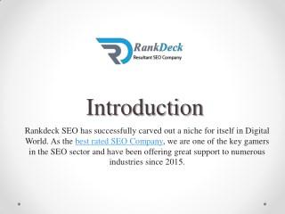 Best Professional SEO Agency - Rankdeck SEO