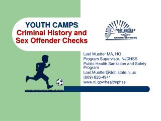 YOUTH CAMPS Criminal History and  Sex Offender Checks