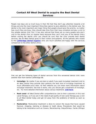 All West Dental