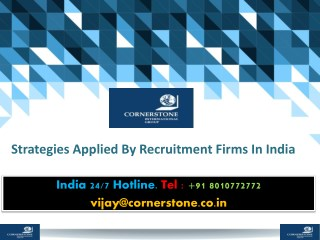 Strategies Applied By Recruitment Firms In India