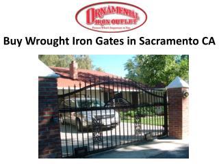 Buy Wrought Iron Gates in Sacramento CA