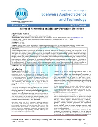 Effect of Mentoring on Military Personnel Retention