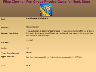 Fling Clowny - Fun Circus Physics Game for Nook Store
