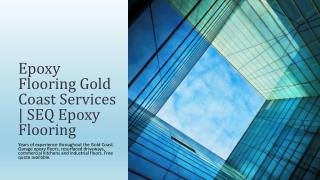Epoxy Flooring Solution Gold Coast