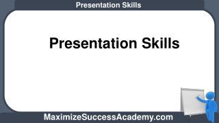 Presentation Skills Training in India