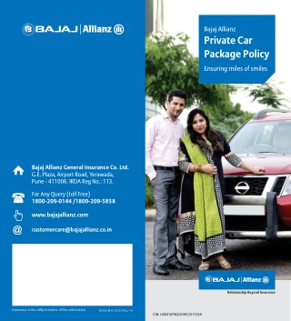 Bajaj Allianz Private Car Package Policy