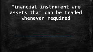 Financial instrument - Banks Instrument