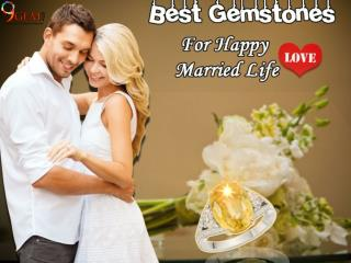 Best gemstones for happy married life