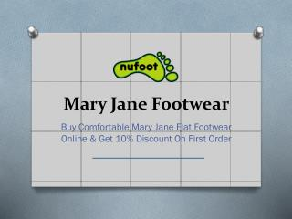 Comfortable Mary Jane Flat Shoes