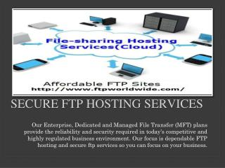 Secure Ftp Hosting Services