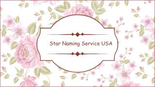 Name a star certificate | Star Naming Service USA