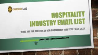 Hospitality industry b2b marketing