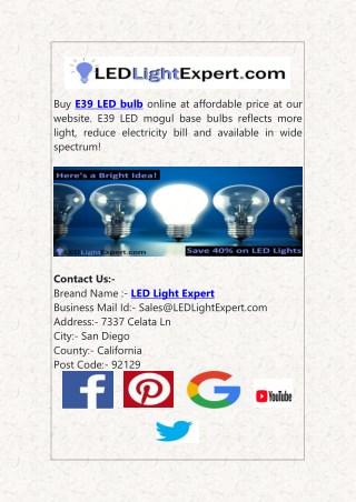 Buy E39 LED Bulb Online at Affordable Price