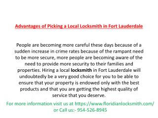 FloridianLocksmith  Call us: (954) 526-8945