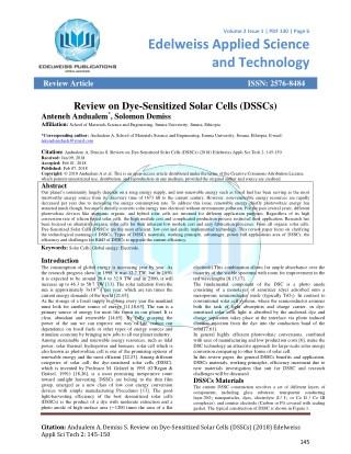 Review on Dye-Sensitized Solar Cells (DSSCs)