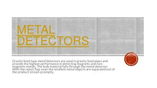 Metal Detectors -MPI Magnet