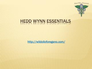 Certified Organic Oregano Oil
