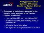 Antihypertensive Trial  Outcome Differences: Diuretic vs. Calcium Channel Blocker
